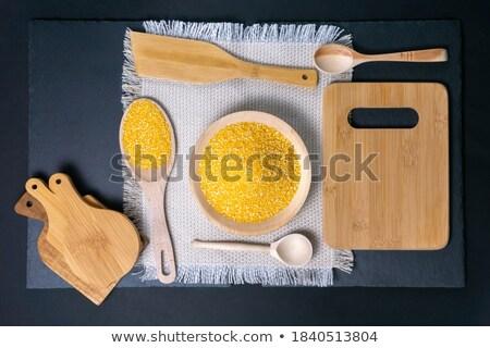 gmo corn maize cob on wooden background stock photo © stevanovicigor