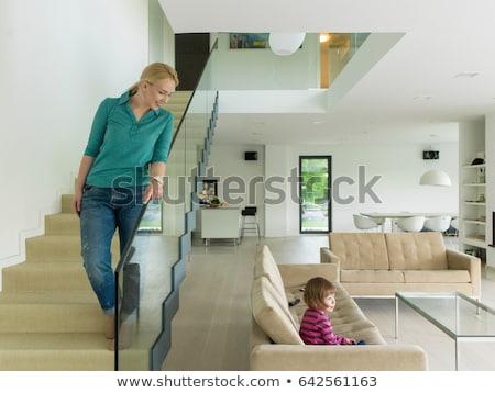 貴族の · 女性 · 階段 · 高級 · 家 · 少女 - ストックフォト © nejron