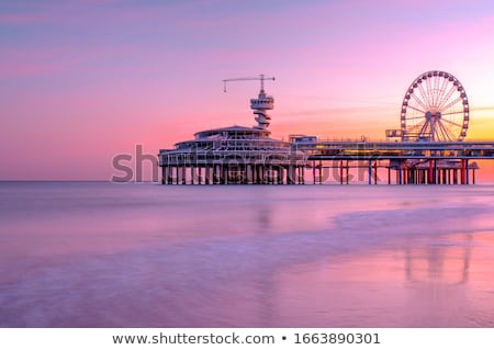 pier at dusk stock photo © silkenphotography