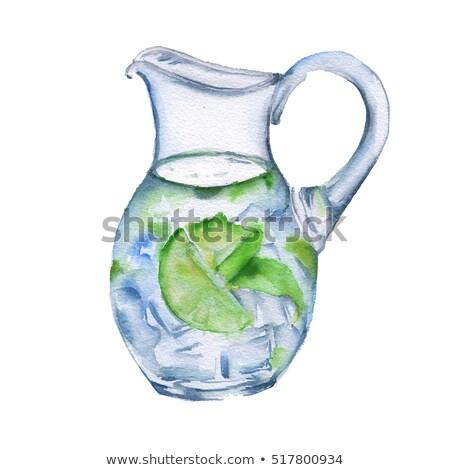 Dekorativ traditionellen Flasche Wasser isoliert weiß Stock foto © gavran333