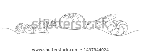 Set of white bread, bakery icons stock photo © aliaksandra
