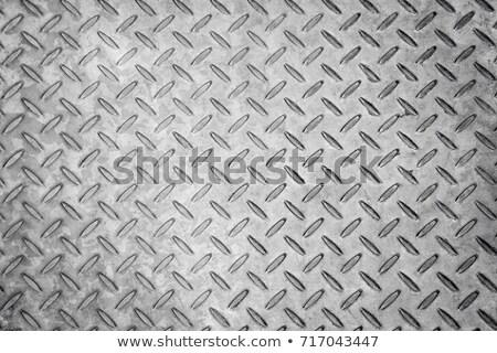 Aluminium dark list with rhombus shapes - texture Stock photo © jarin13