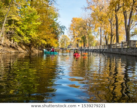 Autumn Montreal Lachine Canal Landscape Stock photo © aetb