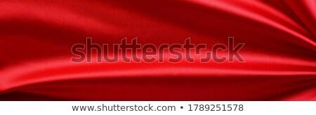 Stock photo: Red satin/silk fabric