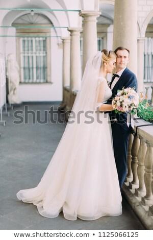 очаровательный невеста балкона радостный лес Сток-фото © majdansky