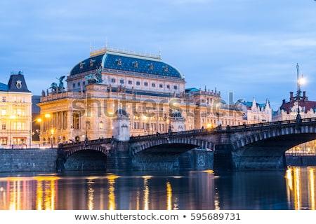 tiyatro · Prag · Çek · Cumhuriyeti · Bina · şehir · tekne - stok fotoğraf © courtyardpix
