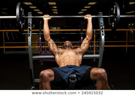 Ripped Muscular Weight Lifter Stock photo © ArenaCreative