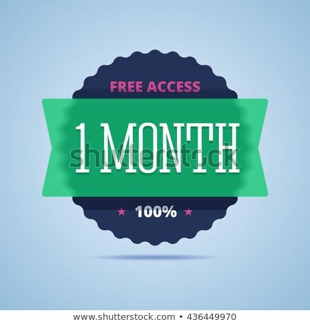 1 месяц предлагать зеленый вектора икона кнопки Сток-фото © rizwanali3d