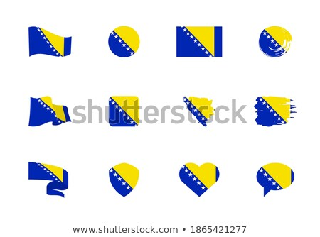 Mapa bandera botón Bosnia Herzegovina vector imagen Foto stock © Istanbul2009