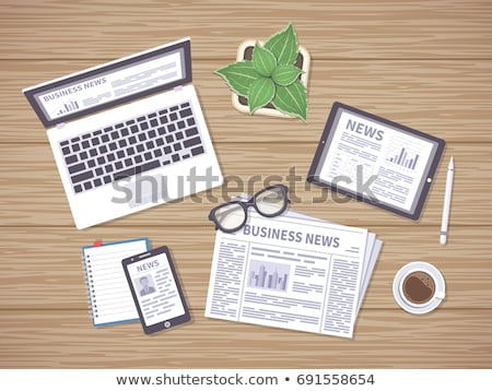 Tablet on a desk - Politics and World Stock photo © Zerbor
