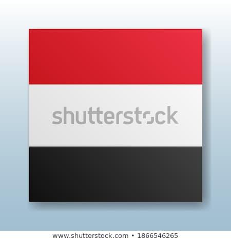 Gomb szimbólum Jemen zászló térkép fehér Stock fotó © mayboro1964