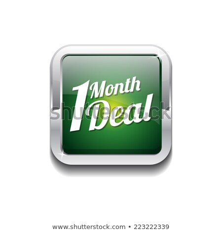 1 месяц дело зеленый вектора икона кнопки Сток-фото © rizwanali3d