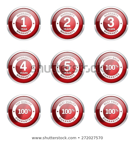 Anos garantia vermelho vetor ícone botão Foto stock © rizwanali3d