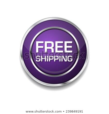Stok fotoğraf: Free Shipping Purple Circular Vector Button