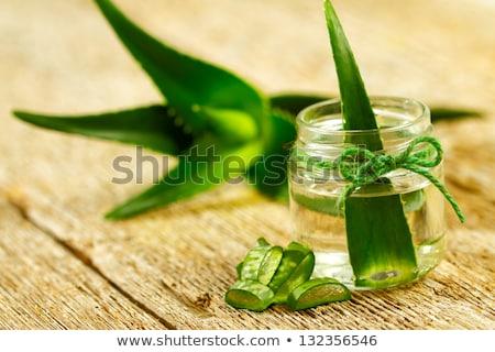 Aloe loción cuadro mesa mujer agua Foto stock © tycoon
