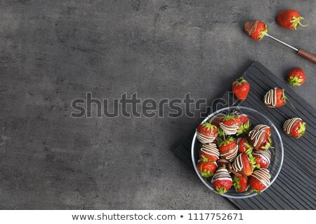 Ripe strawberries dipped in chocolate. Stock photo © justinb
