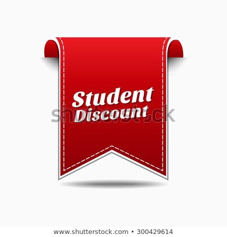 student discount red vector icon design stock photo © rizwanali3d