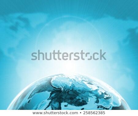 zöld · Föld · földgömb · kontinensek · átlátszó · világtérkép - stock fotó © cherezoff