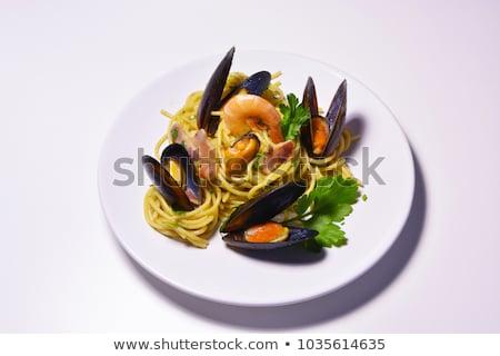 スパゲティ 雌馬 イタリア語 パスタ シーフード 海 ストックフォト © fanfo