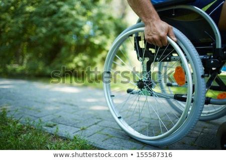 mão · roda · cadeira · de · rodas · inválido · pessoa - foto stock © bubutu