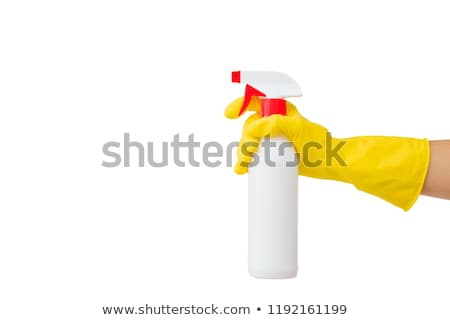 Chemische fles hand witte geïsoleerd medische Stockfoto © OleksandrO