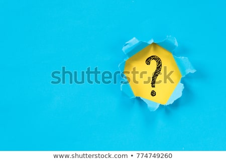Inquiry Torn Paper Concept Stock photo © ivelin