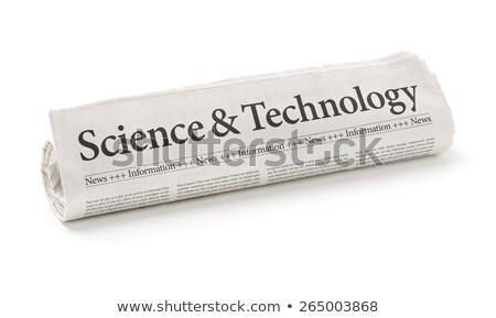 Tekert újság főcím kutatás fejlesztés üzlet Stock fotó © Zerbor
