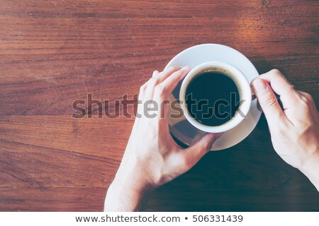 coffee break top view concept vintage tone stock photo © stevanovicigor