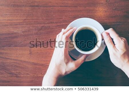 Stockfoto: Koffiepauze · top · vintage · koffiebonen