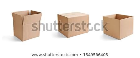 Open and Close of Cardboard Boxes Isolated on White Background.  Stock photo © tashatuvango