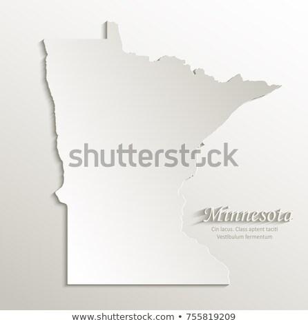 Minnesota mapa azul EUA imagem prestados Foto stock © tang90246