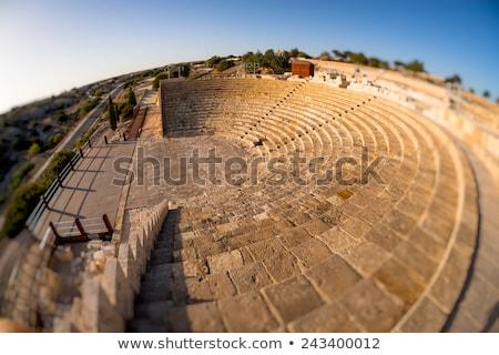 Ruiny starożytnych dzielnica Cypr morza kamień Zdjęcia stock © Kirill_M