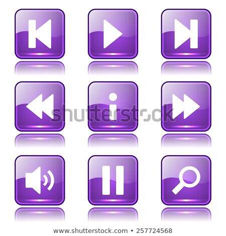 мультимедийные квадратный вектора фиолетовый икона дизайна Сток-фото © rizwanali3d