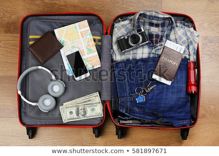 Koffer pack dollar Open business papier Stockfoto © sharpner