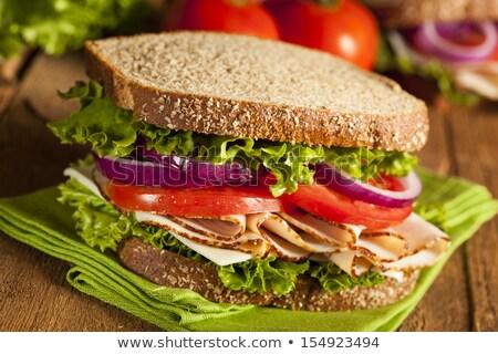 Türkiye et sandviç çerçeve lezzetli peynir Stok fotoğraf © zhekos