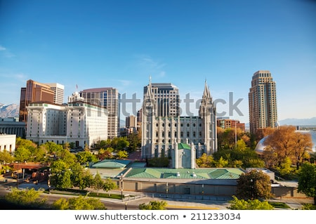 Salt Lake City downtown overview Stock photo © AndreyKr