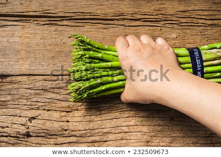 Old hand hodling an old wooden spear Stock photo © michaklootwijk