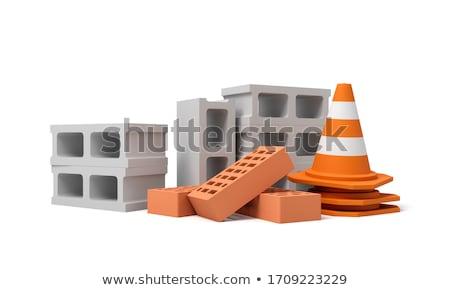 ホロー レンガ メーソンリー 建物 ストックフォト © pixpack