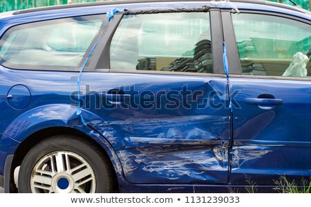 Broken blue car Stock photo © cherezoff