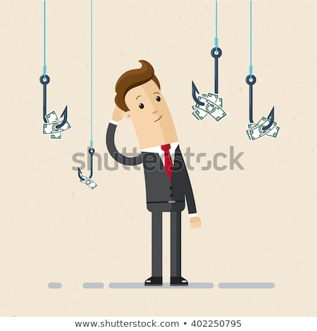 Dollar on a hook flat business concept Stock photo © vectorikart