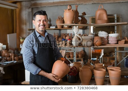 készít · porcelán · váza · agyag · szépség · művészet - stock fotó © mady70