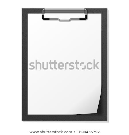 black folding clipboard Stock photo © nito