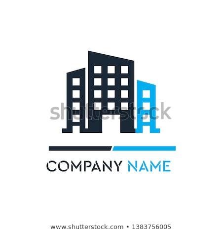 absztrakt · üzlet · ikon · cég · dizájn · elem · kék - stock fotó © blaskorizov