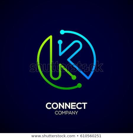 letter k green icon logo symbol design Stock photo © blaskorizov