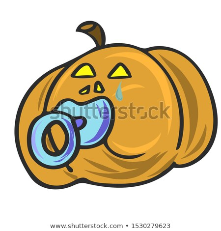 Halloween baby pumpkin with pacifier, vector illustration Stock photo © carodi