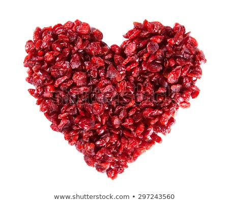 dried cranberries in a heart shape stock photo © sarahdoow