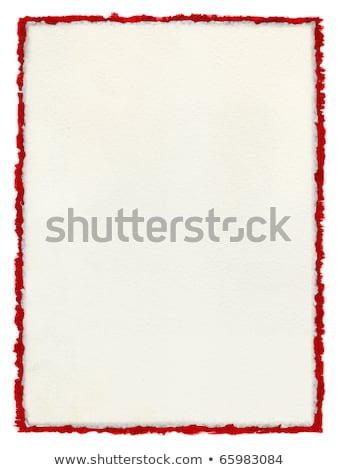 Ripped white paper over red Stock photo © tetkoren