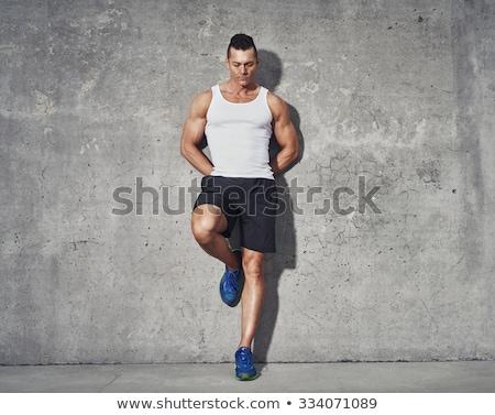 мышечный · человека · серый · спортивный · шорты - Сток-фото © stryjek