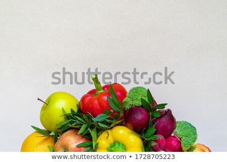 Stock fotó: Közelkép · fenék · piros · zöld · alma · növekvő