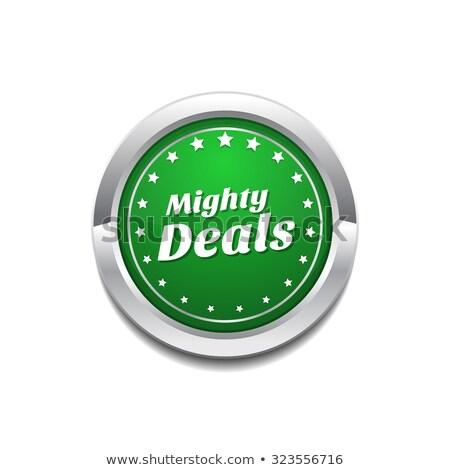 Potężny zielone wektora ikona przycisk Zdjęcia stock © rizwanali3d